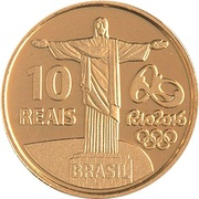 10 Reais (Olympic Games Rio 2016 - 100 meters) – reverse