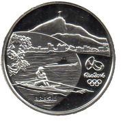 5 Reais (Olympic Games Rio 2016 - Rowing / Pau-Brasil) – obverse