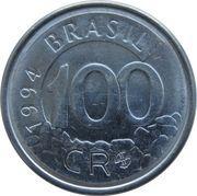 100 Cruzeiros Reais -  reverse
