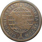 80 Réis - Maria I (Countermark on 40 Réis) – reverse