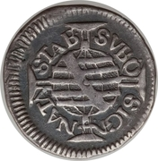 40 Réis - Pedro II (Bahia Mint) – reverse