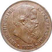 40 Réis - Pedro II -  obverse