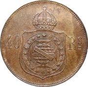 40 Réis - Pedro II -  reverse