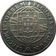 37½ Reis (Golden Vintém) - João VI -  obverse