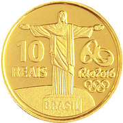 10 Reais (Olympic Games Rio 2016 - Olympic Torch) – reverse