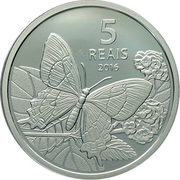 5 Reais (Olympic Games Rio 2016 - Cycling / Beach-Butterfly) – reverse