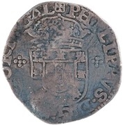 200 Réis - Afonso VI (Countermarked over Tostão/Portugal) – obverse