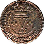5 Réis - José I (Bahia Mint) – obverse