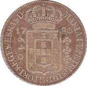 640 Réis - Maria I & Pedro III -  obverse