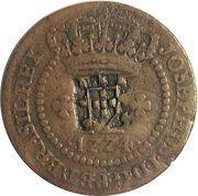20 Réis - José I (Countermarked 10 Réis) – obverse