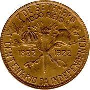 1000 Réis (Independence Centennial) -  reverse