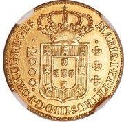 2000 Réis - Maria I & Pedro III – obverse