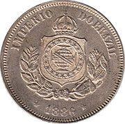 50 Réis - Pedro II – obverse