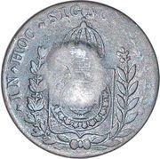 20 Réis - Pedro II (Countermarked 40 Réis, KM# 378) – reverse
