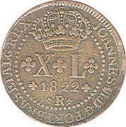 40 Réis - João VI – obverse