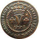 5 Réis - Maria I & Pedro III – obverse