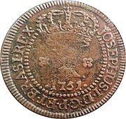 10 Réis - José I (Brazil Mint) – obverse