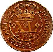40 Réis - José I (Bahia Mint) – obverse