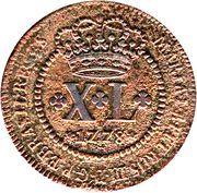 40 Réis - Maria I & Pedro III – obverse