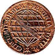 40 Réis - Maria I & Pedro III – reverse