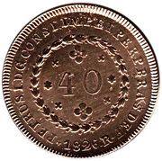 40 Réis - Pedro I (2 Vinténs) -  obverse