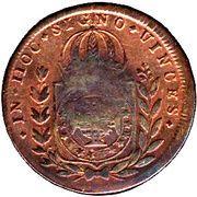 20 Réis - Pedro I (Countermarked 40 Réis) -  reverse