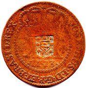 40 Réis - José I (Countermarked 20 Réis, KM#175.1) – obverse