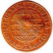 40 Réis - José I (Countermarked 20 Réis, KM#175.1) -  obverse