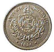 100 Réis - Pedro II -  obverse