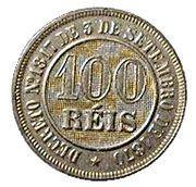 100 Réis - Pedro II -  reverse