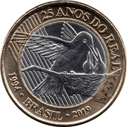1 Real (25 Years of Real) -  obverse