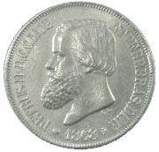 500 Réis - Pedro II – obverse