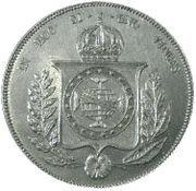 1000 Réis - Pedro II – reverse