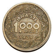 1000 Réis (Tobias Barreto) – reverse