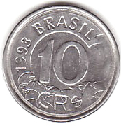 10 Cruzeiros Reais -  reverse