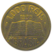 1000 Réis (Anchieta, large type) – reverse