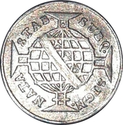 80 Réis - Maria I and Pedro III – reverse