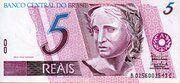 5 Reais (1st family; watermark Effigy) – obverse