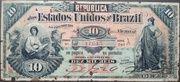 10 Mil Réis (8th Print; Tesouro Nacional; Republic) – obverse