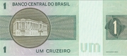 1 Cruzeiro (2nd edition; 1st family; 1st type) -  reverse