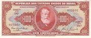 100 Cruzeiros (1st edition; 2nd print; Valor Recebido) – obverse