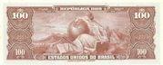 100 Cruzeiros (1st edition; 1st print; Valor Recebido) – reverse