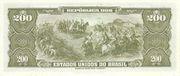 200 Cruzeiros (1st edition; 1st print; Valor Recebido) -  reverse