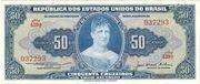 50 Cruzeiros (1st edition, 1st print; Valor Recebido) – obverse