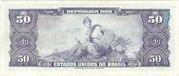 50 Cruzeiros (1st edition, 1st print; Valor Recebido) – reverse