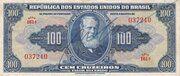 100 Cruzeiros (1st edition; 1st print; Autographed) – obverse