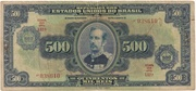 500 Cruzeiros (overprint on 500 Mil Réis i.e. P# 92) -  obverse