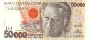 50 000 Cruzeiros (3rd edition) – obverse