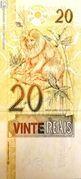 20 Reais (1st family) -  reverse