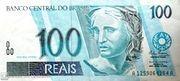 100 Reais (1st family) -  obverse